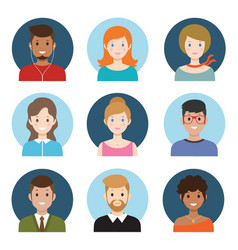young people avatar vector image vector image