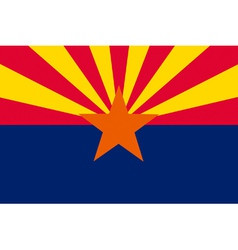 Arizonan state flag vector image