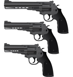 Set of pistols vector
