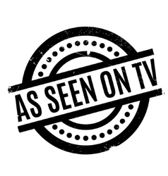As Seen On Tv rubber stamp vector image