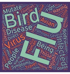 Bird flu and you how will the flu affect you text vector