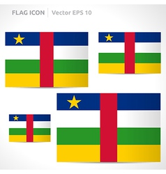 Central african republic flag template vector