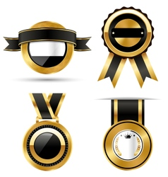 Golden premium quality best labels collection vector