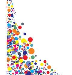 Rainbow color circle vector image