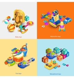 Toys Isometric Set vector image