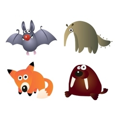 Cartoon little animals vector
