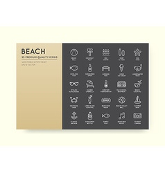 Set of beach sea bar elements and summer can be vector