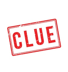 Clue red rubber stamp on white vector
