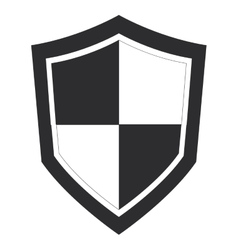 single shield icon vector image