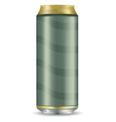 Blank beer can isolated on white background vector