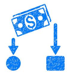Cash flow icon grunge watermark vector