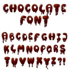 Chocolate font vector