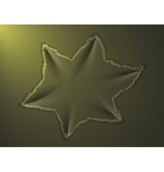 Dent on metal plate vector