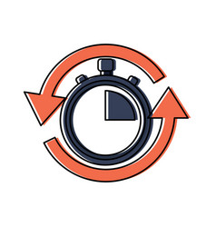 fast delivery serving timer icon vector image