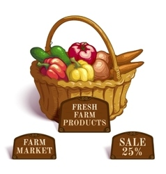 Fresh Farm Products Composition vector image vector image