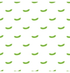 Fresh green peas pattern cartoon style vector