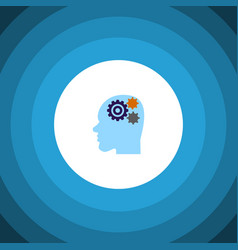 Isolated thinking flat icon invention vector