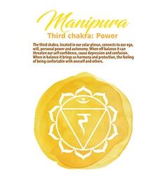 Manipura chakra symbo vector