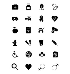 Medical icons 1 vector