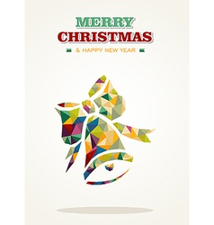 Merry Christmas contemporary triangle greeting vector image vector image