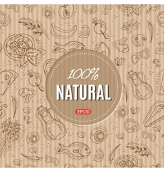 Organic food style vector image
