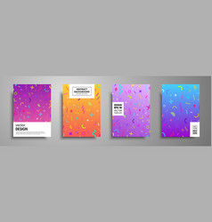 Placard templates set with abstract geometric vector