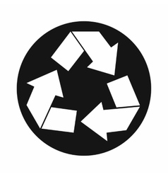Recycle sign icon simple style vector image