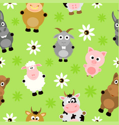 Seamless background card with animals vector