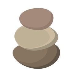 Stones rocks spa icon vector
