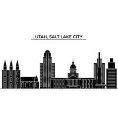 usa utah salt lake city architecture city vector image