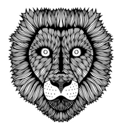 Zentangle stylized tiger face vector