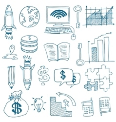 Doodle of business image stock collection vector