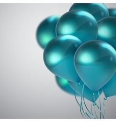 Turquoise balloon bunch vector