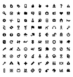 Icons and signs vector image