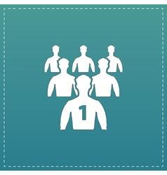 Leadership flat icon vector