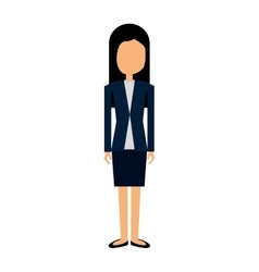 Businesswoman character isolated icon vector