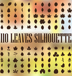 110 leaves silhouette vector image