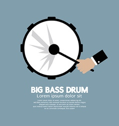 Big bass drum music instrument vector