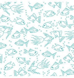 Fish in water seamless pattern vector