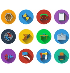 Set of business icons in flat design vector