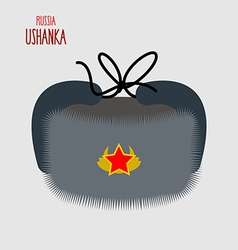 Ushanka national cap of military in russia vector