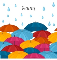 Abstract background with colored umbrellas and vector