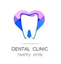 Dental clinic healthy smile logo template vector