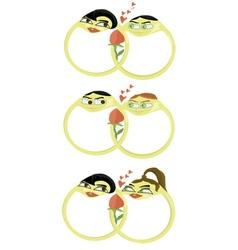 beloved wedding rings set vector image