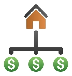 House expenses structure gradient icon vector