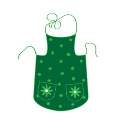 Green apron vector