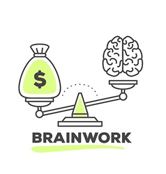 Mechanism to compare value of brainwork a vector