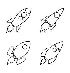 Icon design of rocket vector