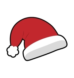 Decoration hat icon merry christmas design vector