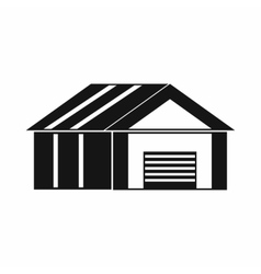 Garage with automatic gate icon simple style vector
